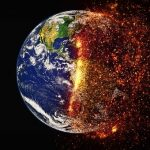 PIcture of the Earth burning up