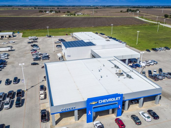 Auto dealership with rooftop solar