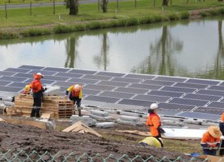 floating solar farm in Australia