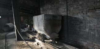 An old mine car sits as an exhibit in the former Zollverein Mine Complex.AMELIA URRY