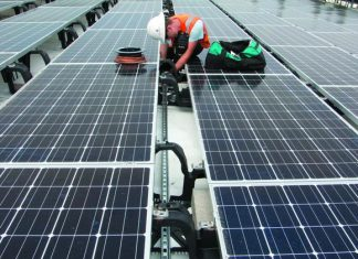 Maletis Beverage in Portland completed a big solar installation last June, just as the solar trade case was beginning. Cathy Cheney   Portland Business Journal