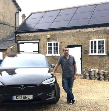 Adam Courtney generates and stores his own electricity to power his electric cars